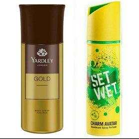 Yard ley Deodorant Body Spray and Set Wet Deodorant Body Spray (150 ml + 150 ml)