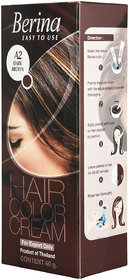 Berina A2 Dark Brown Hair Color Cream