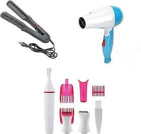 Trendy Trotters Combo Pack Of 3 Hair Dryer 1000 W, Hair Straighter, Ladies Trimmer ( 1000+ 522+ Sweet )