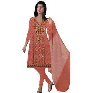 Azad Dyeing Women's Pure jam cotton with  heavy embroidery   Diamonds Work Unstiched Salwar Suit