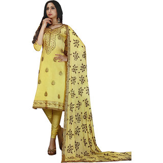 Azad Dyeing Women's Pure Jam Satin Digital Print   Diamonds Work Unstiched Salwar Suit