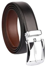 Samm and Moody Genuine Leather Reversible Formal Black Brown Belt for Men (Size 28-36 Cut to fit)