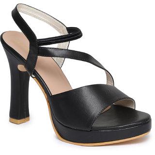 Funku Fashion Women's Ankle Strap Black Block Heel