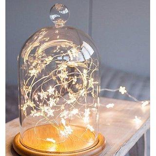 3 Meter 30 LED Star Shape Golden  yellow Fairy RICE light for Home Decoration Party Garden Dinner birthday anniversary