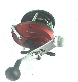 fishing Pro Line Counter Levelwind Trolling Reel red