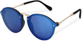 Debonair Stylish UniBody Lens Design Mirror Goggles Round Sunglasses For Men, Women, Boys, Girls