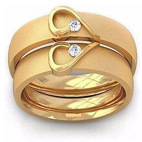 Natural American Diamond Gold Plated Designer Couple Ring Precious  Certified Stone Diamond Ring -CEYLONMINE