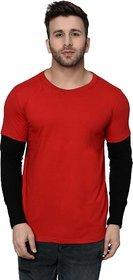 Black Studds Red Cotton Men's Tshirt -BSTD-303-REDBLK