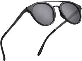ROYAL SON Vintage HD Polarized Sunglasses For Men Women - Black
