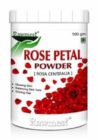 Rawmest Natural Rose Petals Powder II For Skin II For Facial Mask Formulations-100gm (Pack of 1)