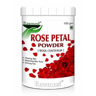 Rawmest Natural Rose Petals Powder II For Skin II For Facial Mask Formulations-100gm (Pack of 1)