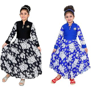SBN Girls Cotton Gown Combo of 2