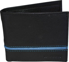 my pac db Vogue Rfid protected genuine leather  wallet Black-Blue C11596-15L