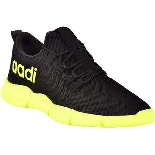 Buy Aadi Black Mesh Running Sport Shoes