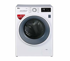 LG 6.5 kg Inverter Fully Automatic Front Loading Washing Machine  FHT1065SNW Blue and White Inbuilt Heater