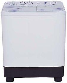 Haier 7.6 kg Semi-Automatic Top Loading Washing Machine (HTW76-1159 White)