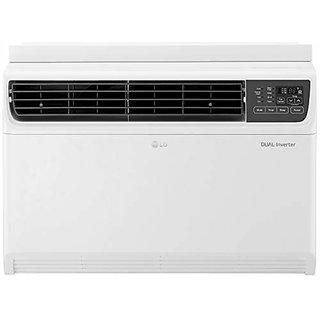 LG 1.5 Ton 5 Star Wi Fi Inverter Window AC  Copper JW Q18WUZA White  Air Conditioners