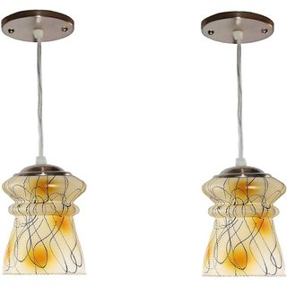 VAGalleryKing With Bulb Double Decorative Hanging Light Pendant Ceiling Lamp