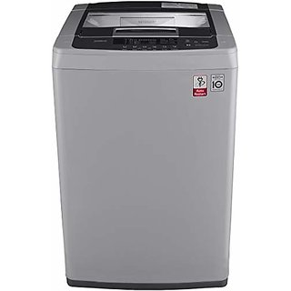LG 7.0 Kg Inverter Fully Automatic Top Loading Washing Machine  T8069NEDLH Middle free Silver  Washing Machines