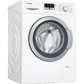Bosch 7 kg Fully Automatic Front Load with In built Heater White  WAK2016WIN  Washing Machines
