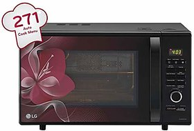 LG 28 L Charcoal Convection Microwave Oven (MJ2886BWUM Black)