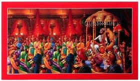 Shivaji Maharaj Rajyaabhishek Wall Sticker Poster Big Without Frame (2.50 X 5 Feet) Home Art Dcor