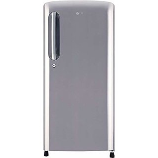 LG 190 L 4 Star Direct Cool Single Door Refrigerator GL B201APZY Shiny Steel Inverter Compressor