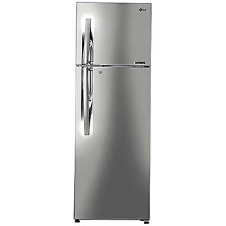 LG 284 L 2 Star Inverter Frost Free Double Door Refrigerator  GL T302RPZU Shiny Steel