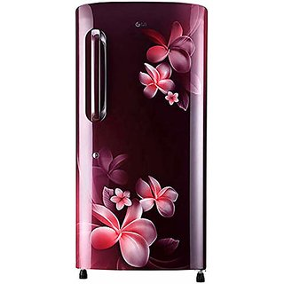 LG 215 L 3 Star Direct Cool Single Door Refrigerator  GL B221ASPD Scarlet Plumeria