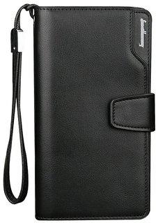 Red Brick Men Artificial Leather Wallet (13 Card Slots) (Black &Brown)