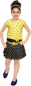 Yellow dotted midi for girls