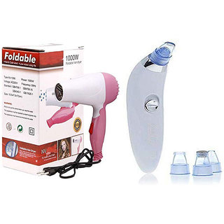 Trendy Trotters Hair Dryer and Derma Roller With Blackhead Whitehead Extractor Remover