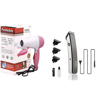 Trendy Trotters Combo Of 1000w Dryer With 216 Trimmer