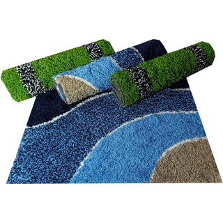 Shabiart door mat for home and office set of 4 pc 40x60 cm multicolor