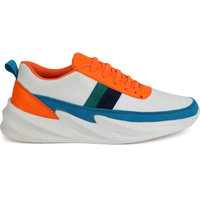 G.N Impex Premium Breathable Mesh Sporty Outdoors and Casual Trendy Lace-up Multicolor Shoes For Men's