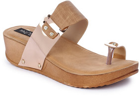 Walkfree Women Casual Tan Wedges