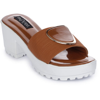 Walkfree Women Casual Tan Heels