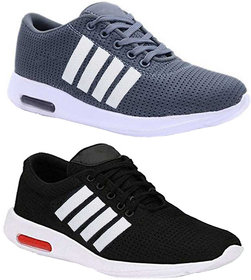 Birde Black & Grey Mesh Casual Casual Shoes For Men Combo of 2