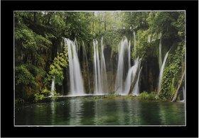 Vastu Waterfall Wall Sticker Poster Big Without Frame (2.50 X 5 Feet) Home Art Dcor