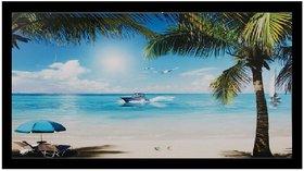 Beautiful Mauritius Beach View Wall Sticker Poster Big Without Frame (2.50 X 5 Feet) Home Art Dcor
