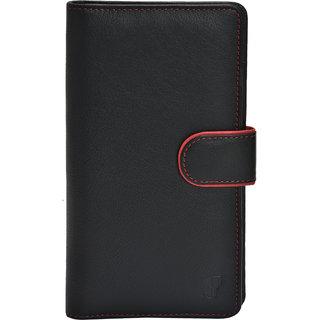 FT Genuine Leather Made Passport Holder For Unisex-Black