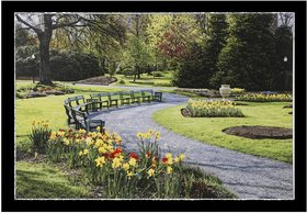 Beautiful Garden  View Scenery Wall Sticker Poster Big Without Frame (2.50 X 5 Feet) Home Art Dcor