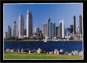 Canadian Sea View Buildings Wall Sticker Poster Big Without Frame (2.50 X 5 Feet) Home Art Dcor
