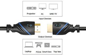HL,Terabyte TB-225 HDMI 5Mtr 5 m HDMI Cable  (Compatible with Mobile, Laptop, Tablet, Mp3, Gaming Device, Black, One Cab