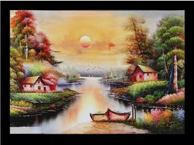 Majestic Painting Wall Sticker Poster Big Without Frame (2.50 X 5 Feet) Home Art Dcor