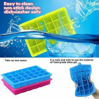 24 Ice Cube Hot Silicone Freeze Mold Bar Pudding Jelly Chocolate Maker Mold Box Cold Drinking
