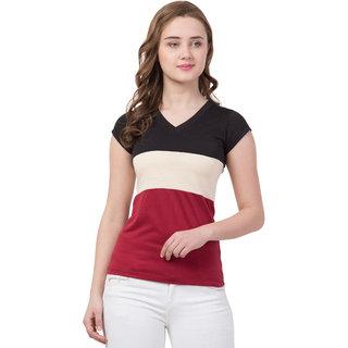 Half Sleeve V Neck Women Tshirt