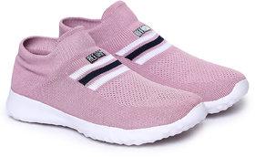 REFOAM Women Pink Mesh Running Sports Shoes
