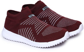 REFOAM Women Maroon Mesh Running Sports Shoes