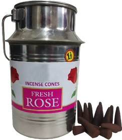 Stylewell (Dolchi Pack of 500 Gram) Premium Fresh Rose/gulab Scented Incense Dhoop Cones